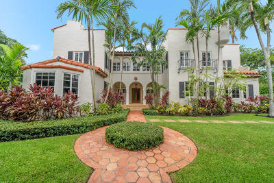 Palm Beach FL Single Family Home For Sale: $4,995,000