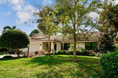 Jupiter Single Family Home For Sale: 5780 Marblewood Court