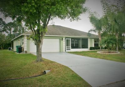 Port Saint Lucie Single Family Home For Sale: 1826 SW Lofgren Avenue