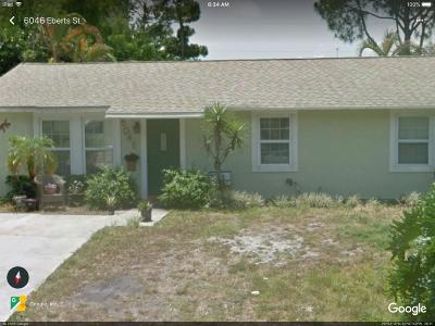 Jupiter Single Family Home For Sale: 6046 Eberts Street