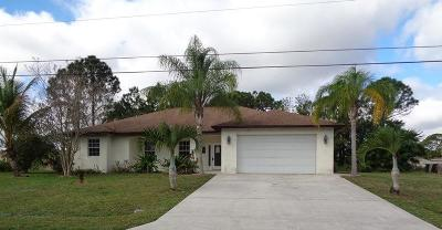 Port Saint Lucie Single Family Home For Sale: 3924 SW Jarmer Road
