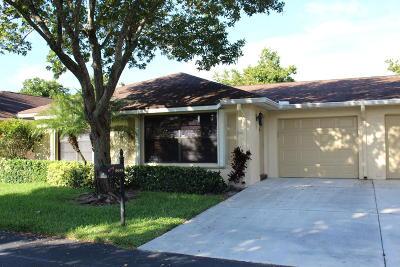 Boynton Beach Single Family Home For Sale: 9955 Orchid Tree Trail #A