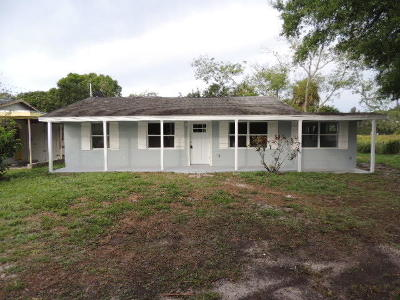 Fort Pierce Single Family Home For Sale: 2011 51st Court