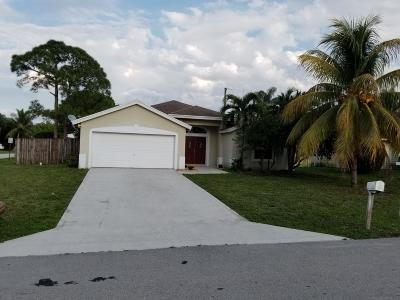 Jupiter Single Family Home For Sale: 14660 Marrian Avenue