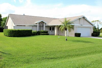 Fort Pierce Single Family Home For Sale: 5215 Feather Creek Drive