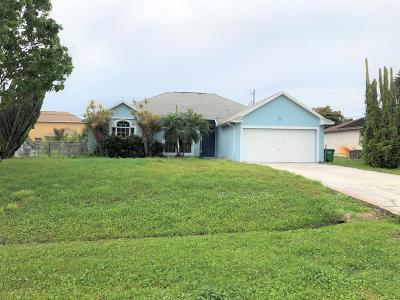 Port Saint Lucie Single Family Home For Sale: 3273 SE West Snow Road