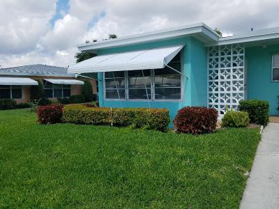 Boynton Beach Single Family Home For Sale: 265 South Boulevard #A