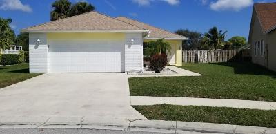 Jupiter Single Family Home For Sale: 187 Raintree Trail