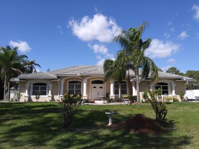 Loxahatchee Single Family Home For Sale: 7355 Mandarin Boulevard