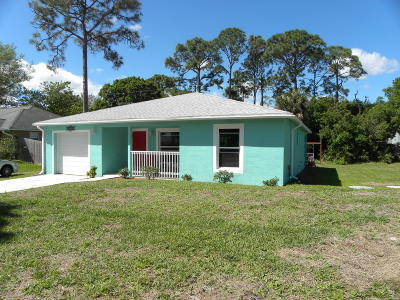Fort Pierce Single Family Home Contingent: 5205 Sunset Boulevard