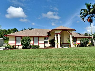 Port Saint Lucie Single Family Home For Sale: 123 SW Sebring Circle