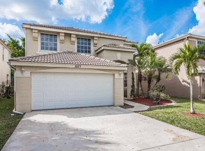 Royal Palm Beach Single Family Home Contingent: 1577 Briar Oak Drive