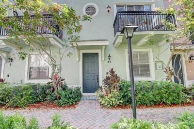 Delray Beach Townhouse For Sale: 87 Atlantic Grove Way #87