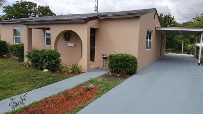 Lake Worth Single Family Home For Sale: 1411 S D Street