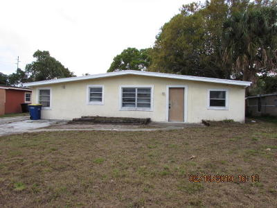 Fort Pierce Single Family Home For Sale: 107 Roselyn Avenue