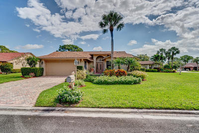 Delray Beach Single Family Home Contingent: 16754 Willow Creek Drive