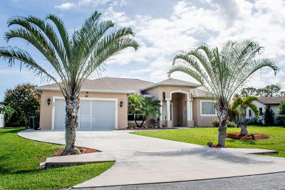 Port Saint Lucie Single Family Home For Sale: 521 NE Noah Street