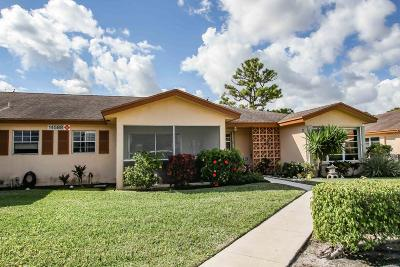 Delray Beach Single Family Home Contingent: 14588 Canalview Drive #C