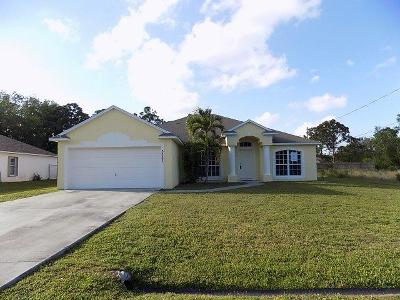 Port Saint Lucie Single Family Home Contingent: 5523 NW Downs Street
