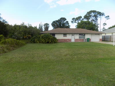 Fort Pierce Single Family Home For Sale: 7506 Brookline Avenue