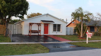 Jupiter Single Family Home For Sale: 1095 Chickasaw Street
