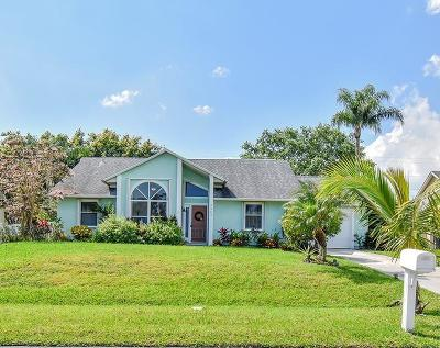 Port Saint Lucie Single Family Home Contingent: 2903 SE Pace Drive