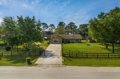 Loxahatchee Single Family Home For Sale: 17888 69th Street