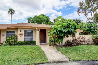 Delray Beach Single Family Home For Sale: 13486 Sabal Palm Court #D