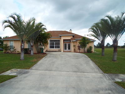 Port Saint Lucie Single Family Home For Sale: 5825 NW West Dooley Circle