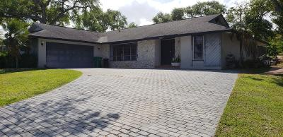 Fort Pierce Single Family Home For Sale: 9895 S Indian River Drive