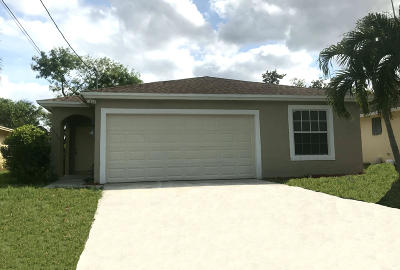 Jupiter Single Family Home For Sale: 6756 4th Street