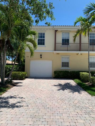 Palm Beach Gardens Townhouse For Sale: 434 Capistrano Drive
