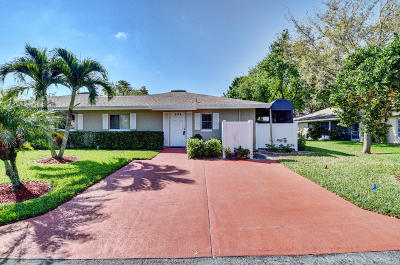 Boca Raton Single Family Home For Sale: 8720 Rheims Road #B