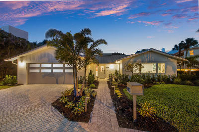 Ocean Ridge Single Family Home For Sale: 5903 Ocean Boulevard