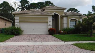 Fort Pierce Single Family Home For Sale: 6104 Spring Lake Terrace