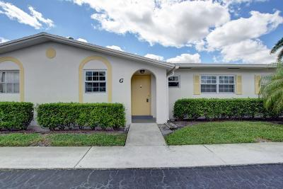 West Palm Beach Single Family Home For Sale: 2630 Emory Drive E #G