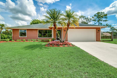 Loxahatchee Single Family Home For Sale: 3028 Seminole Pratt Whitney Road