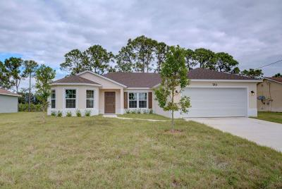 Port Saint Lucie Single Family Home For Sale: 1461 SE Berkshire Boulevard