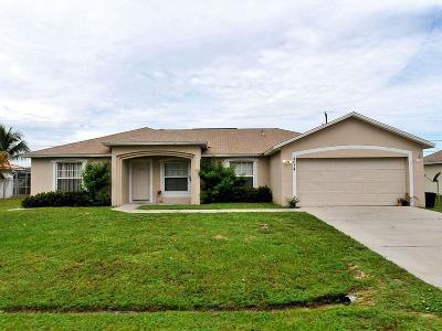 Port Saint Lucie Single Family Home For Sale: 4034 SW McIntyre Street