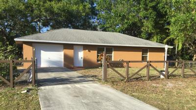 Fort Pierce FL Rental For Rent: $1,250
