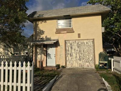 Lake Worth Single Family Home For Sale: 515 D Street