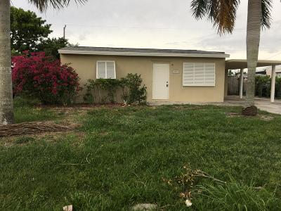Lake Worth Single Family Home For Sale: 3031 Buckley Avenue
