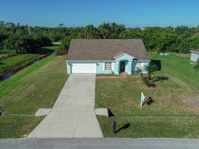 Port Saint Lucie Single Family Home For Sale: 4498 SW Attlee Street
