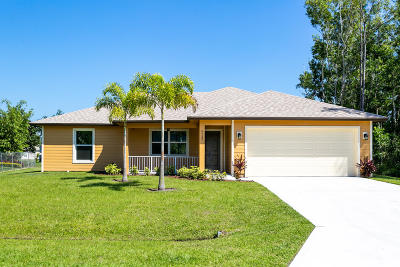 Port Saint Lucie Single Family Home For Sale: 4722 NW Irrington Terrace