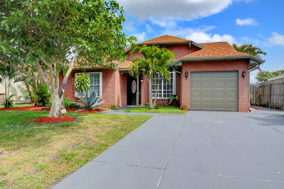 Boynton Beach Single Family Home For Sale: 5610 Pebble Brook Lane