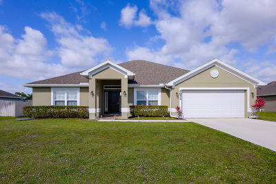Port Saint Lucie Single Family Home Contingent: 5852 NW Joppa Court