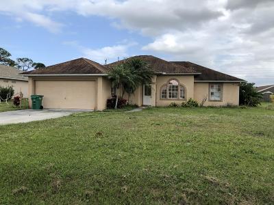 Port Saint Lucie Single Family Home Contingent: 408 SE Gasparilla Avenue