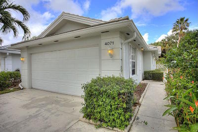 Palm Beach Gardens Single Family Home For Sale: 4071 Grove Point Road