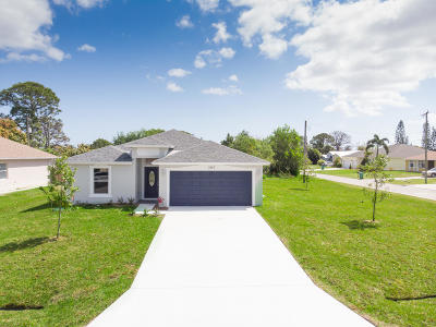 Port Saint Lucie Single Family Home For Sale: 2167 SW Best Street SW