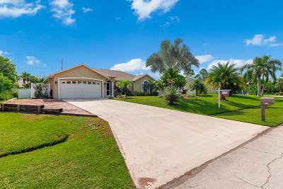 Port Saint Lucie Single Family Home For Sale: 3538 SE Hyde Circle